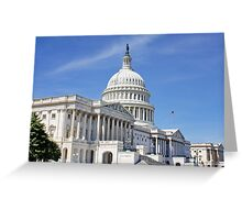 The Capital Building, Washington DC, USA Greeting Card