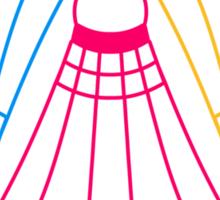 3 Badmintons Sticker