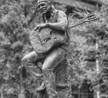 Texas Images - Willie Nelson Statue in Downtown Austin 2 by RobGreebonPhoto