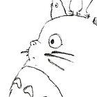 Totoro/ black by tea-drinker