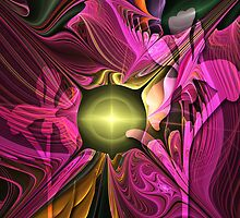 Artistic fractal abstract Summer fantasy wit Flowers by walstraasart