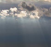 Sun Rays Peeping through the Clouds by Heidi Stewart