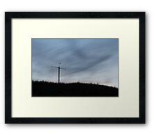 Late Night Mast Framed Print