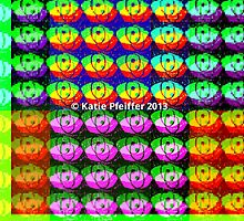 Rainbow Pixel Eye Eyes Design by Kater