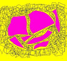 Collage rose yellow doodle by eliso silva