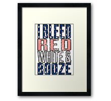 I Bleed Red White And Booze Framed Print