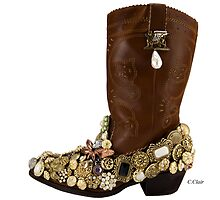 Cowgirl Saturday Night Boot Dancing by designsbycclair
