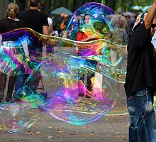 Bubbles in the park by Carolyn Boyden