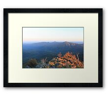 Sun rise over Mt Kaputar 2 Framed Print