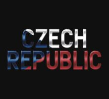 Czech Republic - Czech Flag - Metallic Text by graphix
