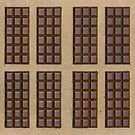 Twelve Chocolate Bars by visualspectrum