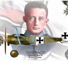 Leutnant Werner Voß by A. Hermann