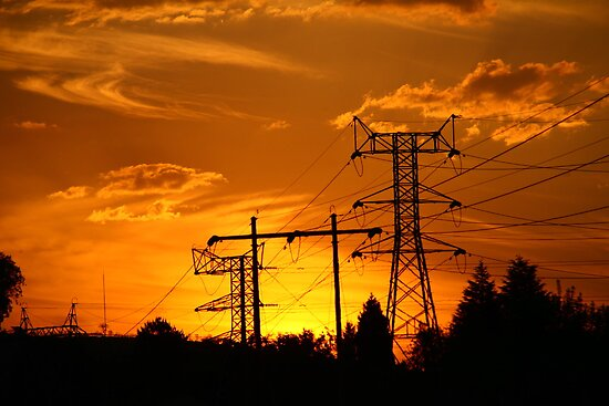 Electric sunset by Graeme M