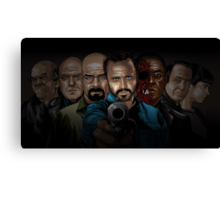 Breaking Bad line-up Canvas Print