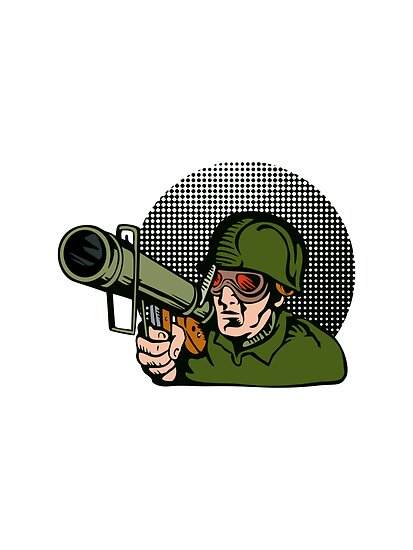 Soldier Aiming Bazooka by patrimonio