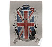Sherlock Holmes inspired crest Poster