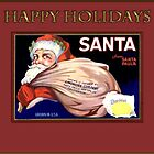Holidays-Vintage Santa Ad by Yesteryears