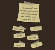 People's traits are on their backs by Angrahius