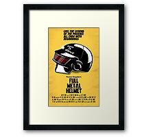 Full Metal Helmet Framed Print
