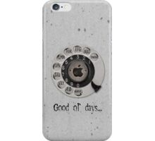 Traditional rotary telephone dial. Apple. iPhone Case/Skin