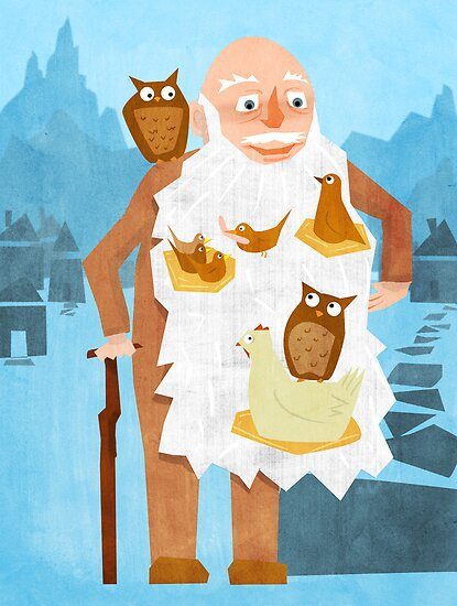 Old Man with Bird Nest Beard by RedPine