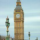 The big Ben thru Lamps on Westminster Bridge London. by Arvind Singh