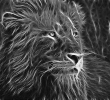 Glow - Lion (Black & White) by TeamIrora