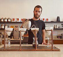 Barista Preparing Gourmet Filter Coffee by visualspectrum