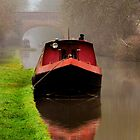 Narrowboat on the Canal by Avril Harris