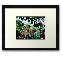 Plein Air in the Garden Framed Print