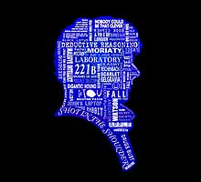Sherlock typography (blue) by erndub