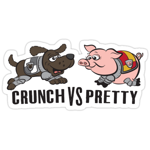 Crunch VS Pretty by JenSnow