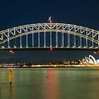 Sydney Harbour Night by ashercobb