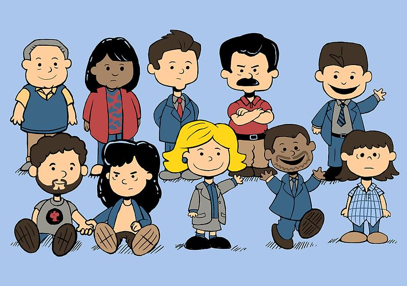 Parks and Rec Peanuts by sponzar
