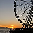 The Wheel At Sunset by tmtphotography