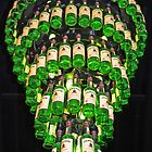 Lamp of whiskey bottles by Arie Koene