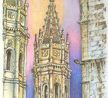 Jerónimos. torres  by terezadelpilar~ art & architecture