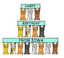 Cats Happy Birthday from Iowa by KateTaylor