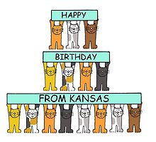 Cats Happy Birthday from Kansas by KateTaylor