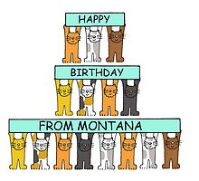 Cats Happy Birthday from Montana by KateTaylor