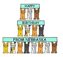 Cats Happy Birthday from Nebraska by KateTaylor