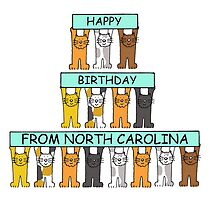 Cats Happy Birthday from North Carolina by KateTaylor