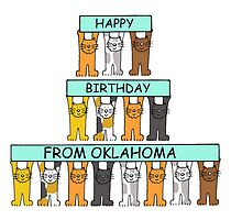 Cats Happy Birthday from Oklahoma by KateTaylor