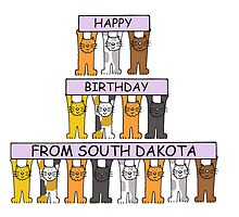 Cats Happy Birthday from South Dakota by KateTaylor