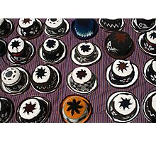Knit Hats on a Rug Photographic Print