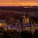 Margam Castle and the Blood Red Moon by digihill