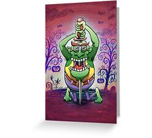 The Awkwardness of the Sword Swallower Greeting Card