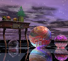 Surrealistic Christmas card with Text by walstraasart