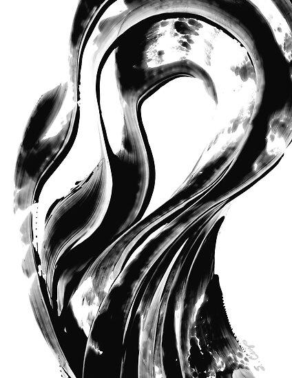 Black Magic 306 - Black And White Art by Sharon Cummings