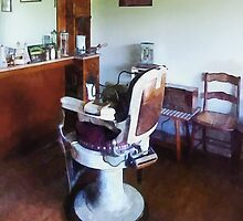 Old Fashioned Barber Chair by Susan Savad